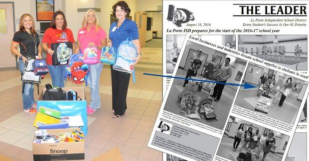 Swagelok Southeast Texas Donates School Supplies