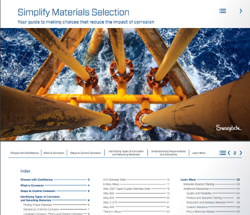 peek inside the interactive materials selection guide opening page